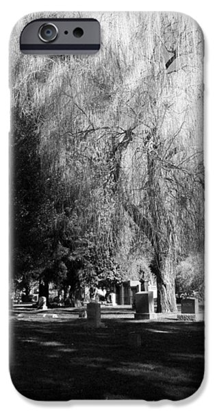 Head Stone iPhone Cases - Whispering in the wind... iPhone Case by Heather L Giltner