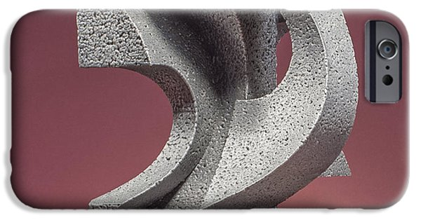 Stainless Steel Sculptures iPhone Cases - Whispers and Secrets iPhone Case by Richard Arfsten