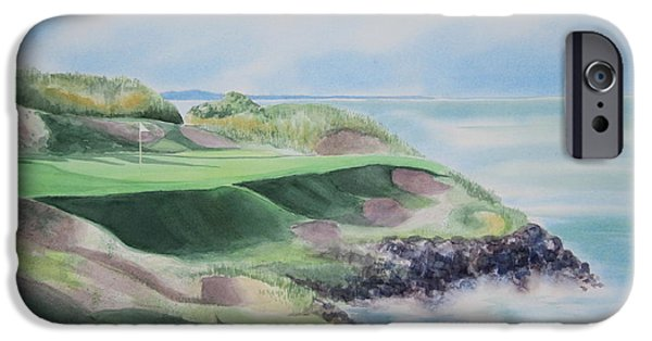7th iPhone Cases - Whistling Straits 7th Hole iPhone Case by Deborah Ronglien