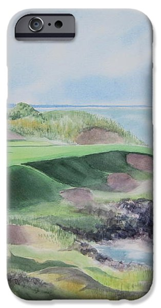 Whistling Straits 7th Hole iPhone Case by Deborah Ronglien