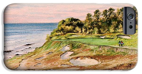 Chicago Paintings iPhone Cases - Whistling Straits Golf Course 17Th Hole iPhone Case by Bill Holkham