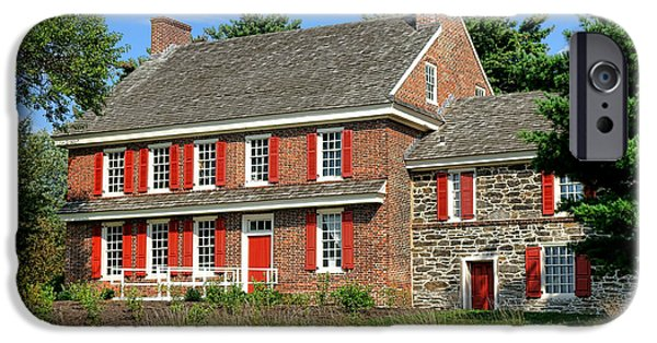Quaker Photographs iPhone Cases - Whitall House iPhone Case by Olivier Le Queinec