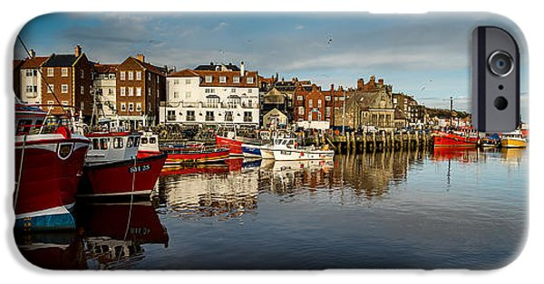 Chip iPhone Cases - Whitby Harbour iPhone Case by Dave Hudspeth