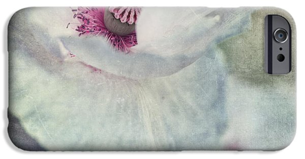 Flora Photographs iPhone Cases - White And Pink iPhone Case by Priska Wettstein