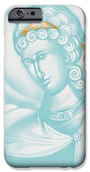 Julia Bridget Hayes iPhone Cases - White Angel iPhone Case by Julia Bridget Hayes