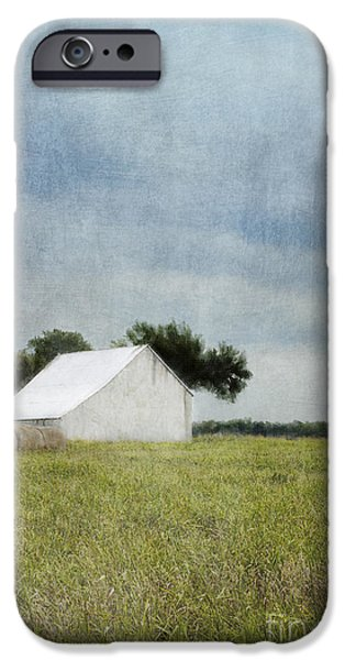 Old Barns iPhone Cases - White barn iPhone Case by Elena Nosyreva
