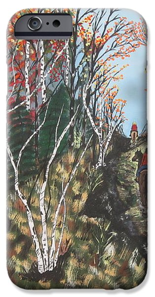 White Birch Trail Ride iPhone Case by Jeffrey Koss