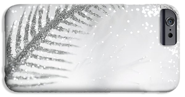 Abstract Digital Photographs iPhone Cases - White Bird iPhone Case by Dazzle Zazz