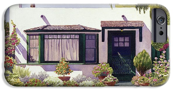House iPhone Cases - White Bungalow in Coronado iPhone Case by Mary Helmreich