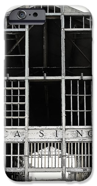 Asbury Park Casino iPhone Cases - White Casino iPhone Case by Colleen Kammerer