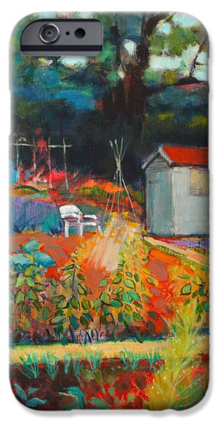 Shed Paintings iPhone Cases - White Chair iPhone Case by Marco Cazzulini