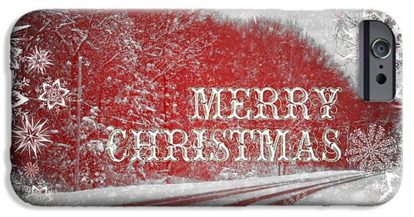 Christmas Eve iPhone Cases - White Christmas iPhone Case by Dan Sproul
