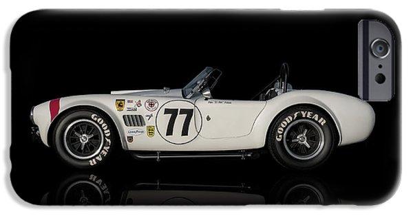 Racing iPhone Cases - White Cobra iPhone Case by Douglas Pittman