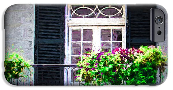 House Art iPhone Cases - White Door  Balcony iPhone Case by Perry Webster