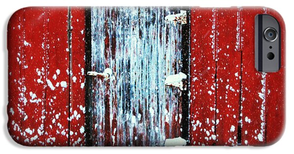 Barn Print Photographs iPhone Cases - White Door iPhone Case by Julie Hamilton