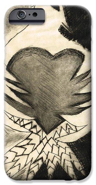 Graceful iPhone Cases - White Dove Art - Comfort - By Sharon Cummings iPhone Case by Sharon Cummings