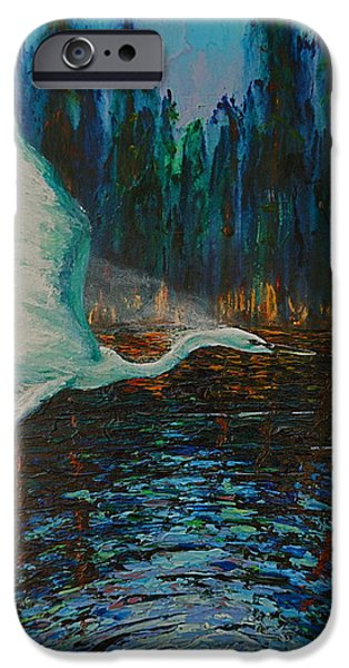 Recently Sold -  - Flight iPhone Cases - White Egret iPhone Case by Les Lyden
