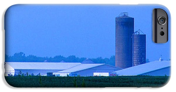 Shed iPhone Cases - White Farm and Silos iPhone Case by Tina M Wenger