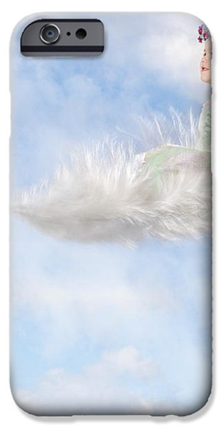 White Feather Dream iPhone Case by Cindy Singleton