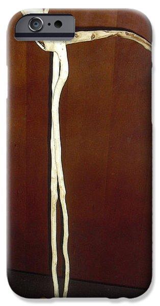Birds Sculptures iPhone Cases - White Flamingo Bird iPhone Case by Vele Bezzo