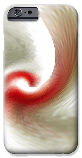 Ben Gertsberg Digital Art iPhone Cases - White Flower Abstraction iPhone Case by Ben and Raisa Gertsberg