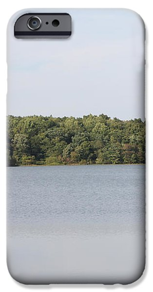 White Heron Lake Poconos PA III iPhone Case by JOHN TELFER