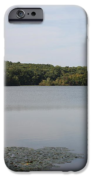 White Heron Lake Poconos PA iPhone Case by JOHN TELFER