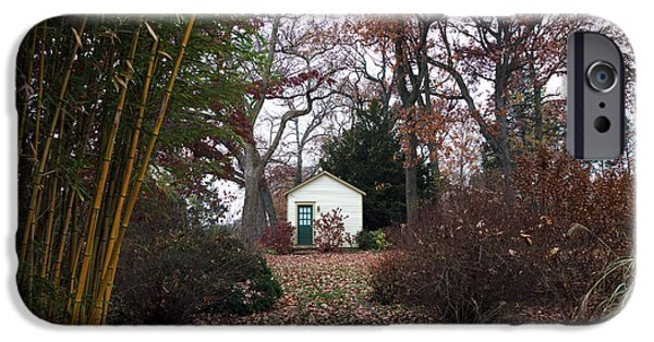 White House iPhone Cases - White House in the Garden iPhone Case by John Rizzuto