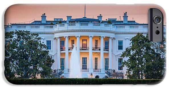 President iPhone Cases - White House iPhone Case by Inge Johnsson