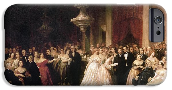 First Lady iPhone Cases - White House Reception, 1864 iPhone Case by Granger