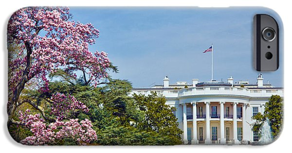White House iPhone Cases - White House Spring iPhone Case by Mitch Cat