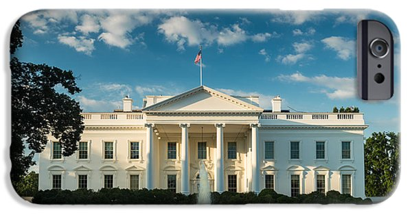 America iPhone Cases - White House Sunrise iPhone Case by Steve Gadomski