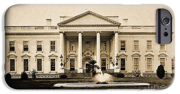 D.c. iPhone Cases - White House, Washington, D.c., 1880 iPhone Case by Wellcome Images