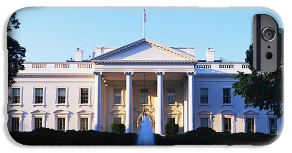 White House iPhone Cases - White House Washington Dc iPhone Case by Panoramic Images