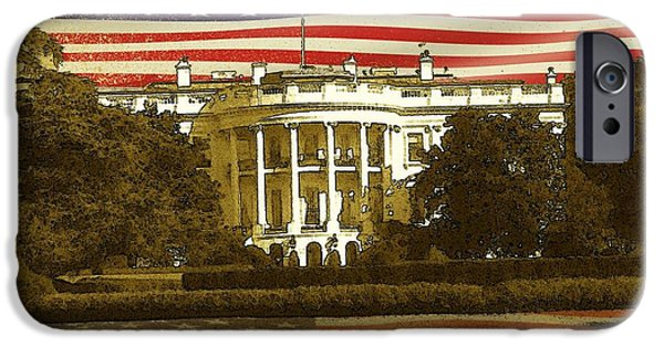 Best Buy Mixed Media iPhone Cases - White House Washington - Patriotic Poster iPhone Case by Peter Fine Art Gallery  - Paintings Photos Digital Art