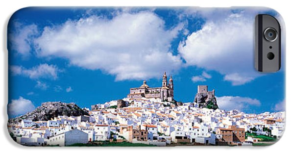 White House iPhone Cases - White Houses Andalusia Olvera Spain iPhone Case by Panoramic Images