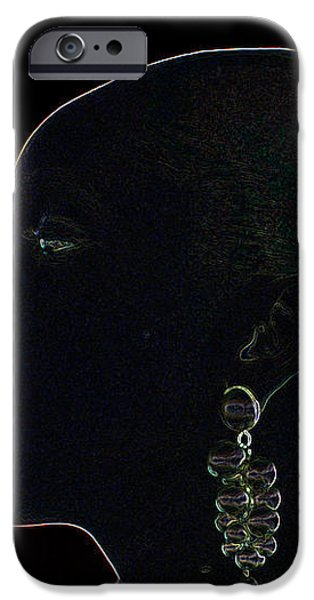 White Ink on Black Velvet iPhone Case by Carl Purcell