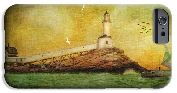 New England Lighthouse iPhone Cases - White Island Light - Isles of Shoals iPhone Case by Lianne Schneider