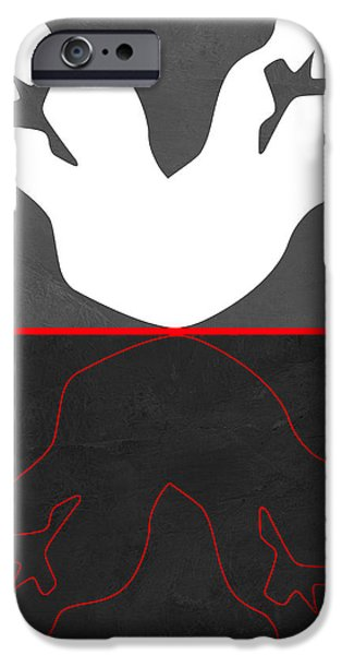 Love Making Paintings iPhone Cases - White Kiss iPhone Case by Naxart Studio