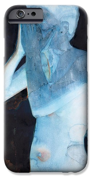 Mental Paintings iPhone Cases - White Lights I iPhone Case by Graham Dean