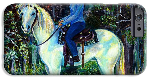 Horse iPhone Cases - White Magic iPhone Case by Anna  Duyunova