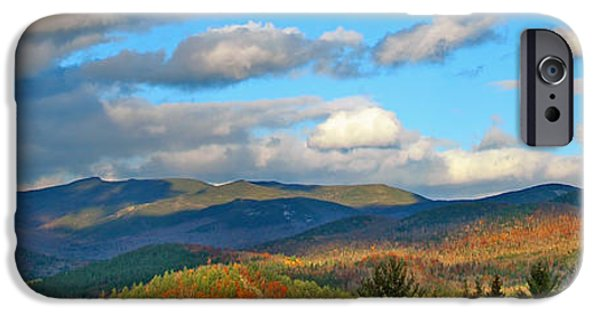 Autumn Scenes iPhone Cases - White Mountain Gold iPhone Case by Joann Vitali