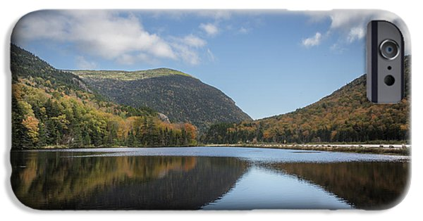 White Mountains iPhone Cases - White mountains reflection iPhone Case by Chris Fletcher