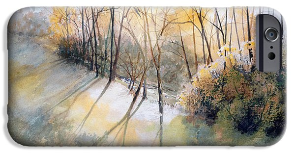 Recently Sold -  - Oak Creek iPhone Cases - White Oak Creek iPhone Case by Kathie Daulton