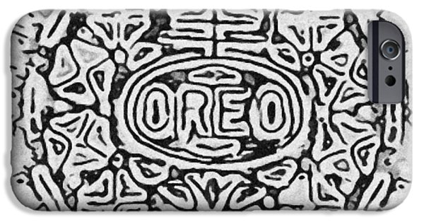 Oreo iPhone Cases - White Oreo iPhone Case by Rob Hans