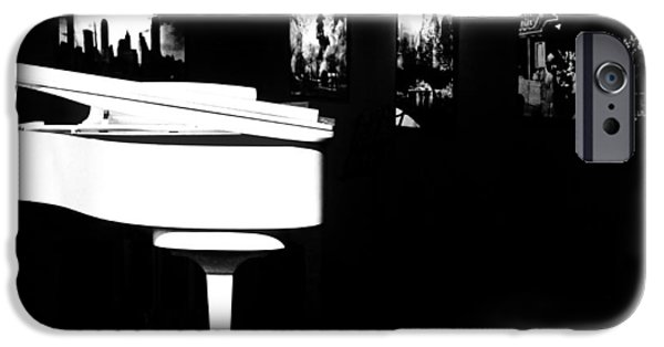 Piano iPhone Cases - White Piano iPhone Case by Benjamin Yeager