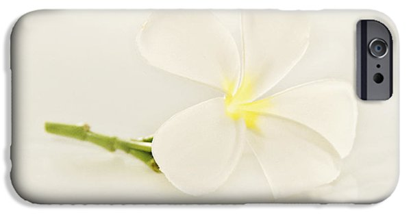 iPhone Cases - White Plumeria Reflection iPhone Case by M Swiet Productions