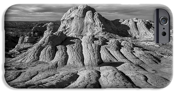 Slickrock iPhone Cases - White Pocket Brain Rock iPhone Case by Jerry Fornarotto