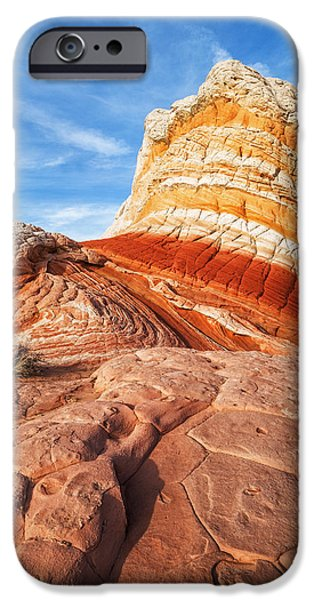 Watson Lake iPhone Cases - White Pockets Stripes and Sells iPhone Case by Alex Mironyuk