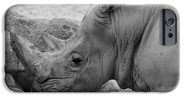 Lips iPhone Cases - White Rhino iPhone Case by Patti Whitten